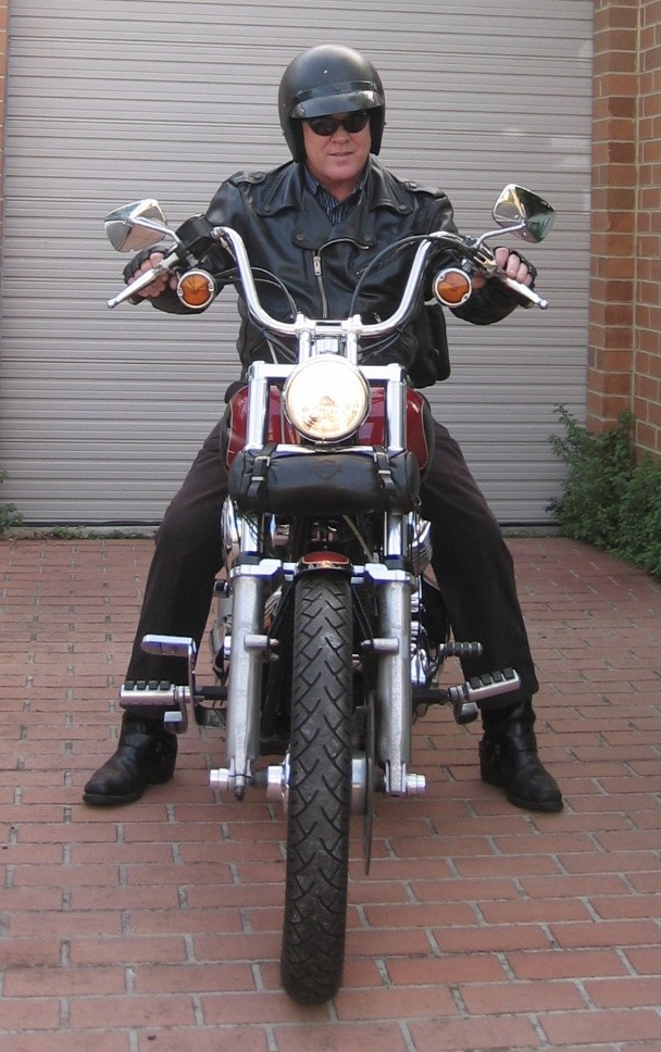 Author on his motorcycle